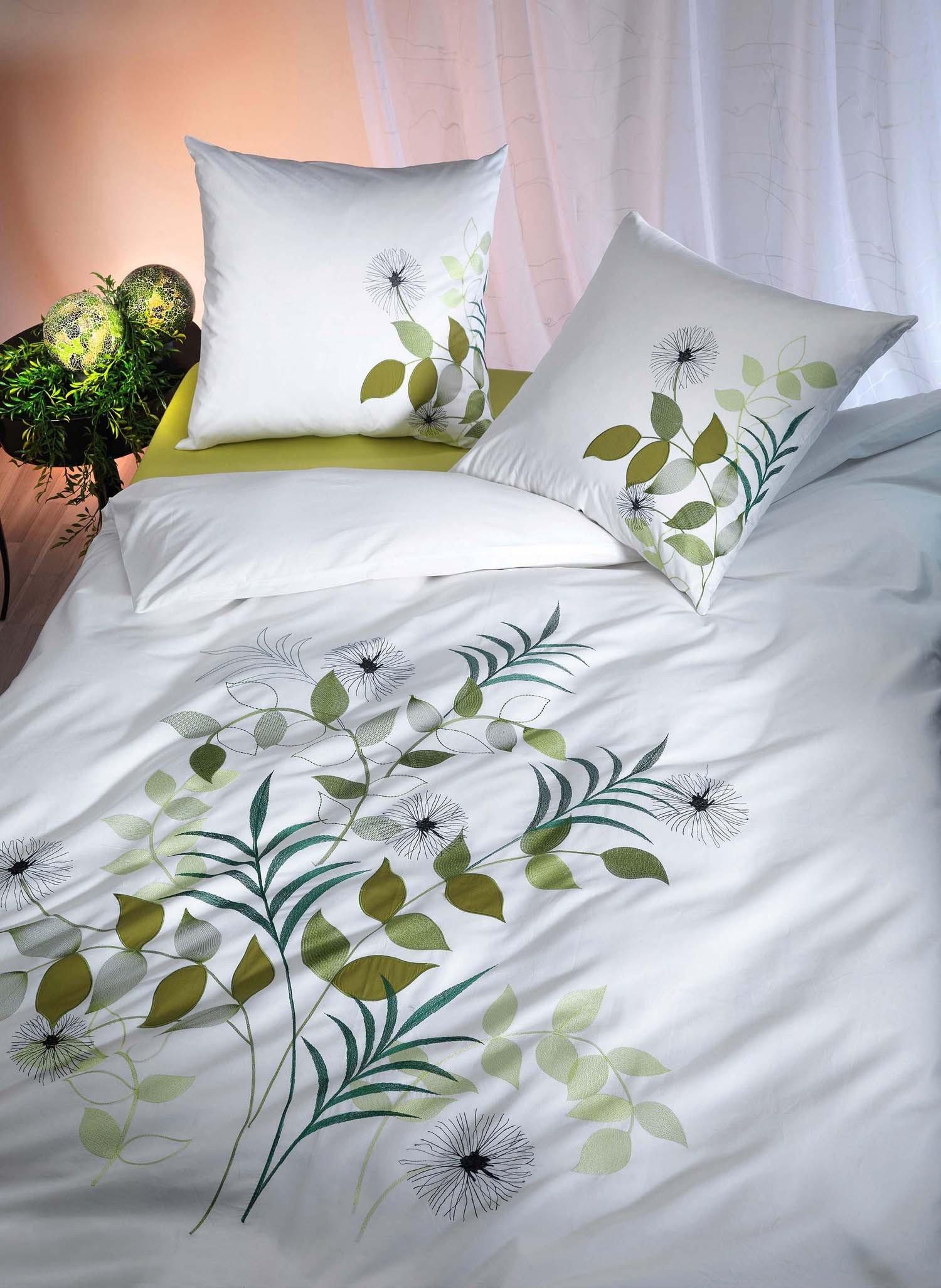 Biancheria da letto in satin  «FOGLIAME»