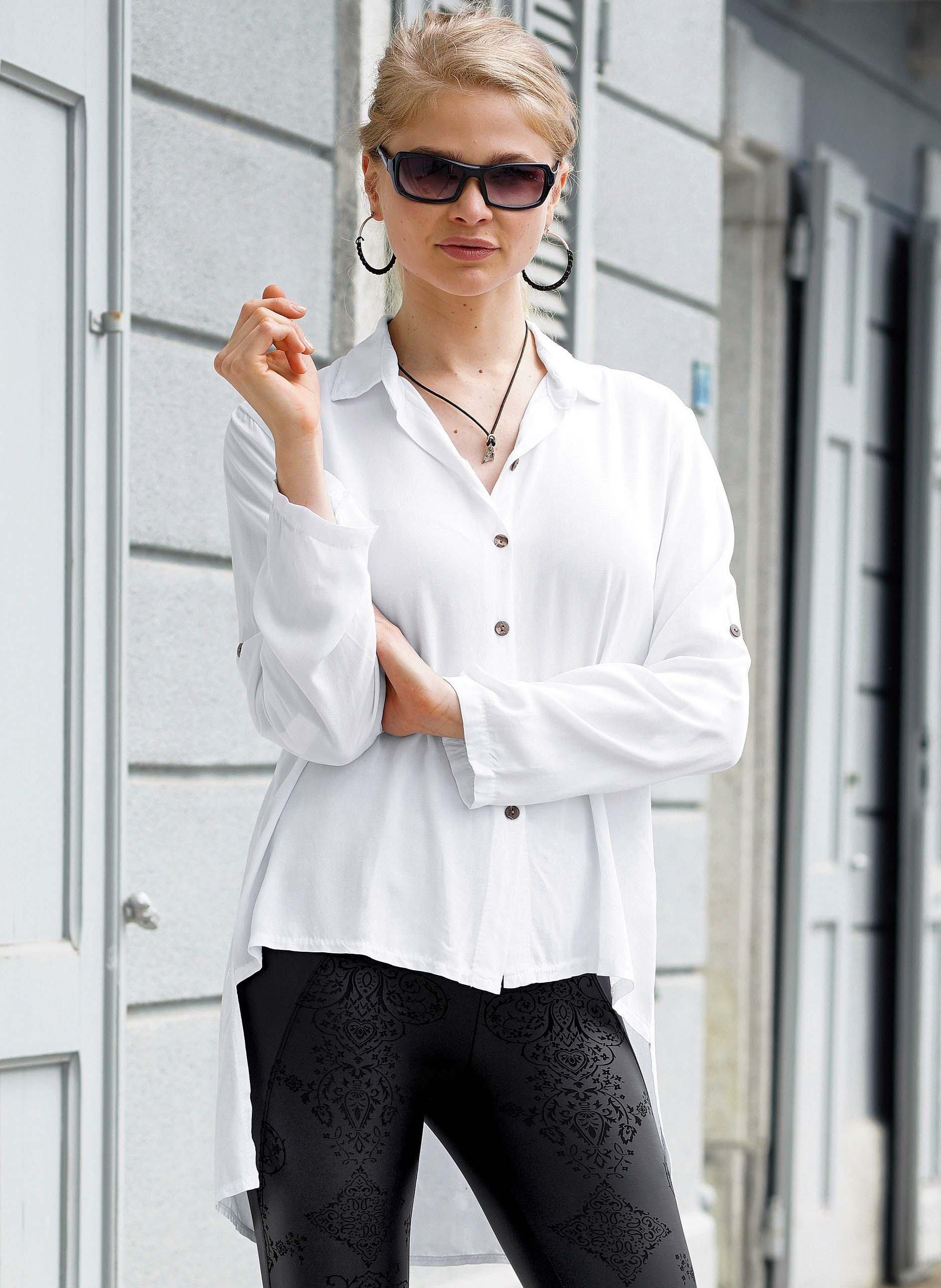 Blusa maniche lunghe