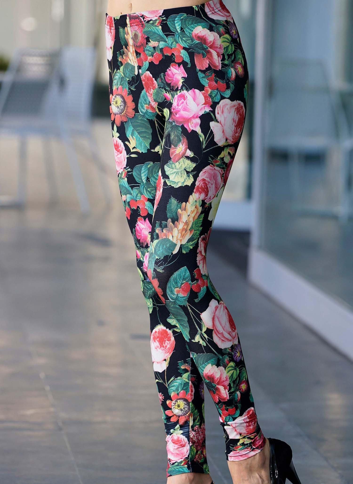 D-Leggings,Rose multicolore