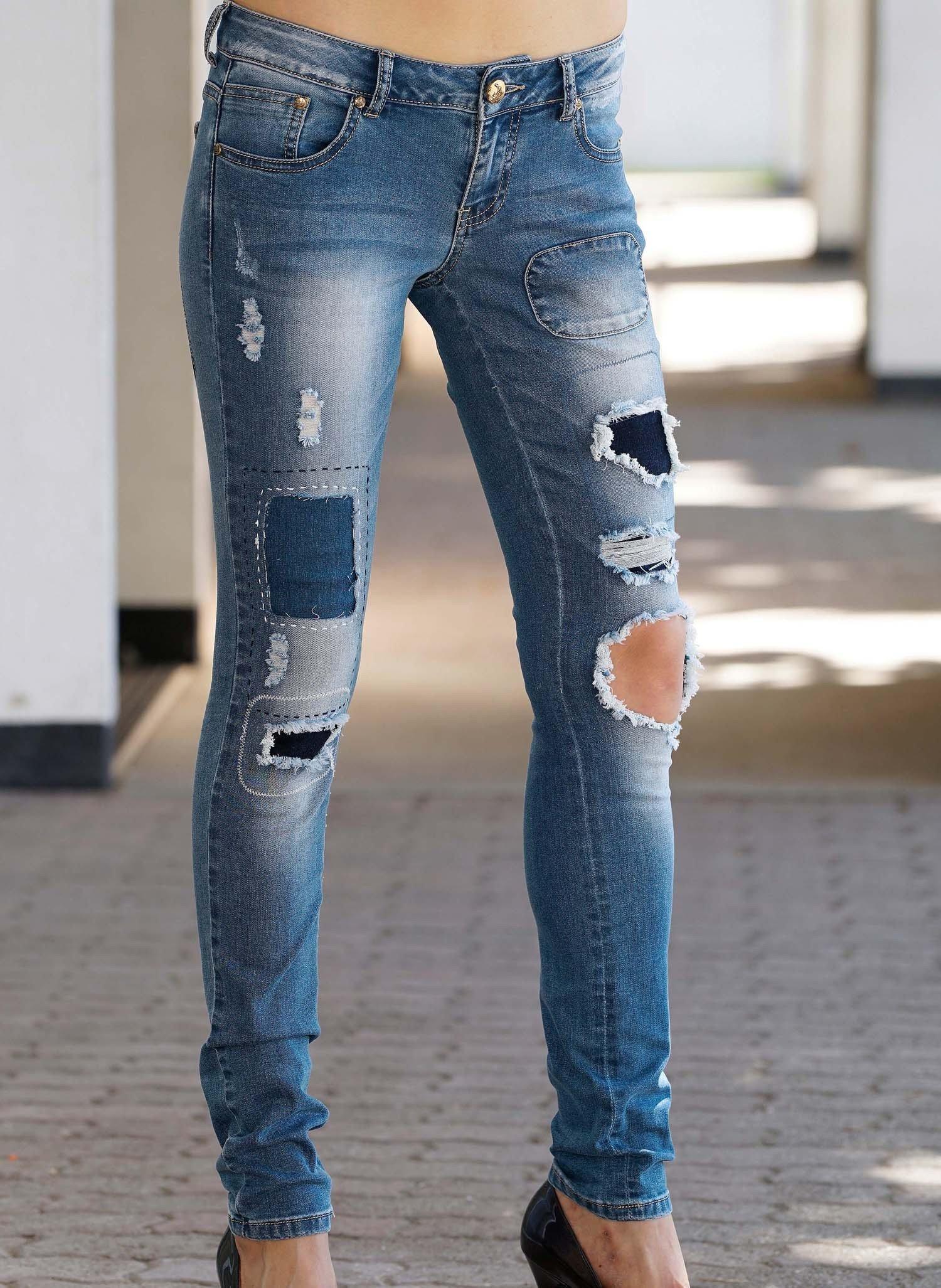 D-Jeans,Lochapplikation.Blue-D 44 050 - 3 - Ronja.ch