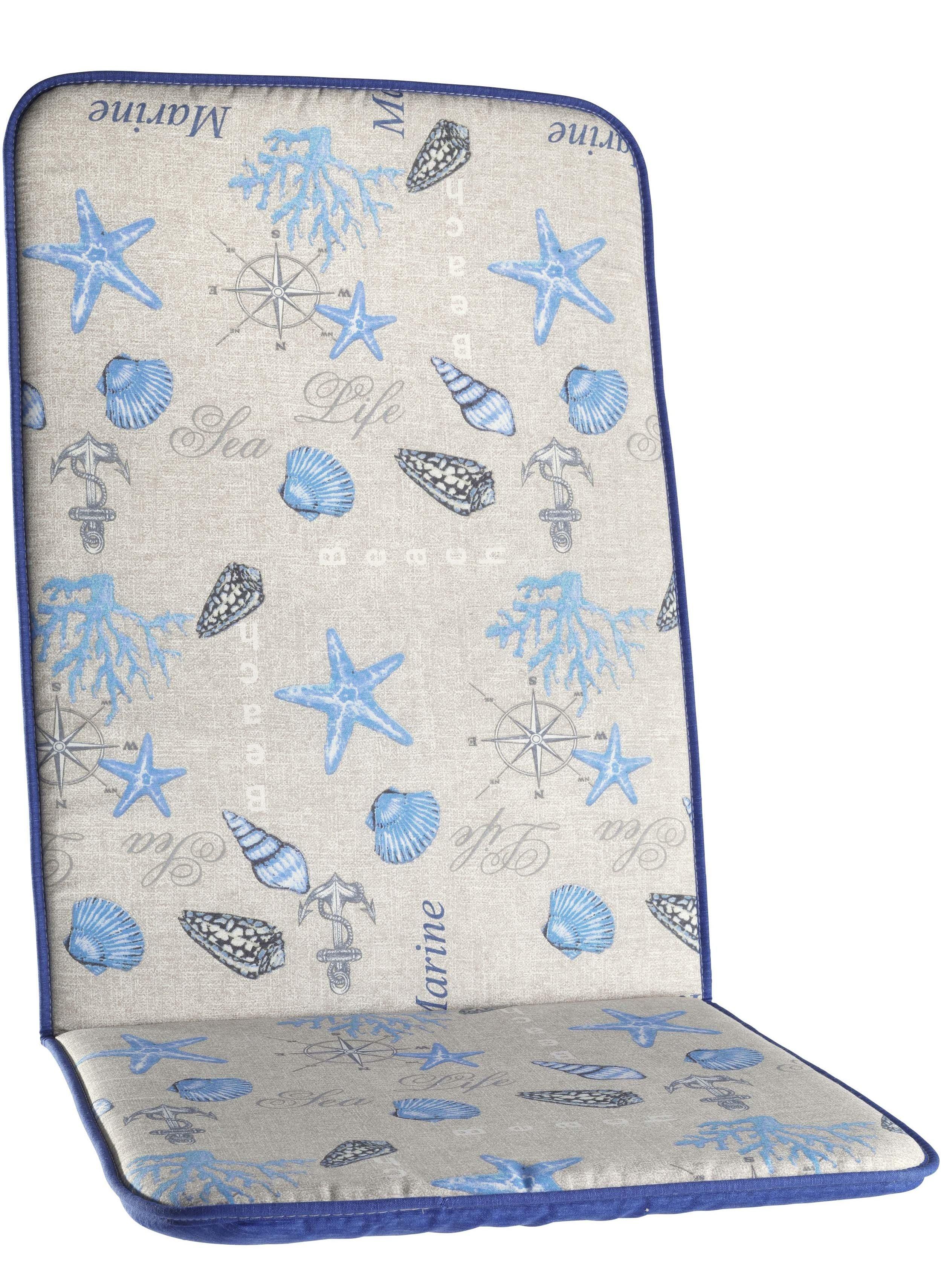 Cuscino-alto stella mare blu