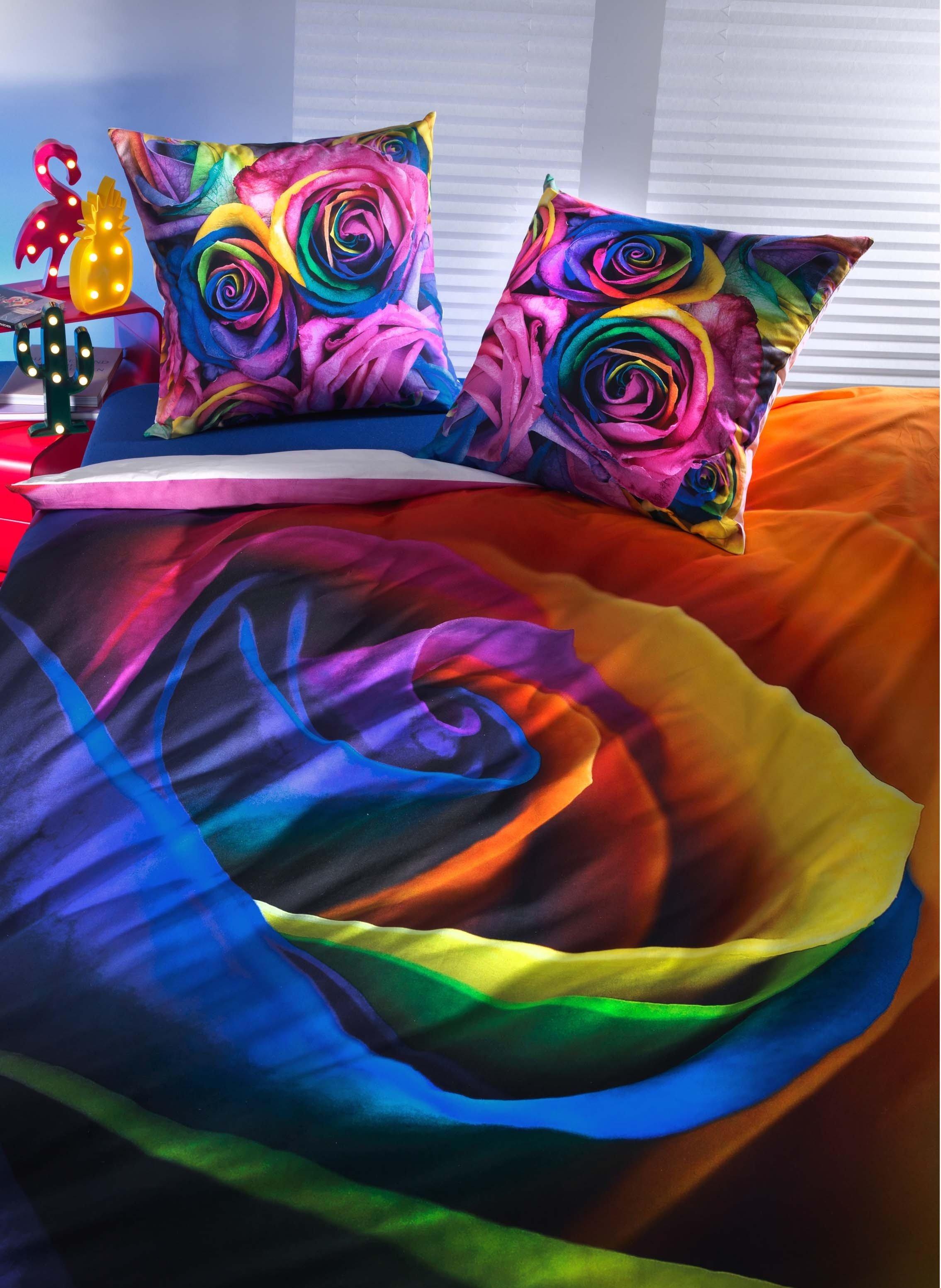 "Biancheria da letto, stampa digitale  ""COLORS-ROSE"""