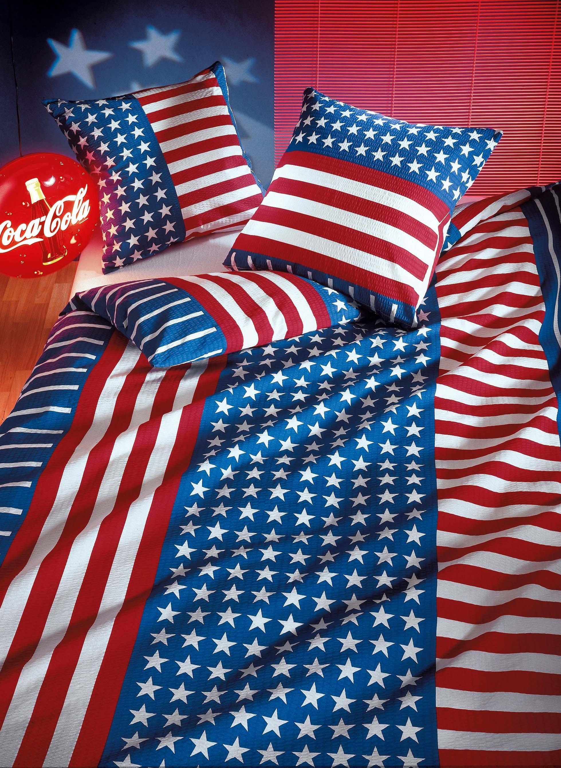 "Biancheria da letto in seersucker ""USA"""