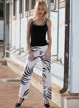 Pantaloni motivo zebrato