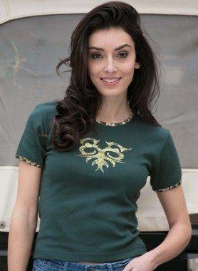 Shirt con maniche corte, transfer
