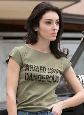 """Shirt, """"ARMED AND DANGEROUS"""""""