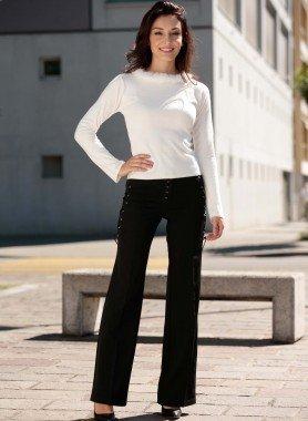 Pantaloni, chiusura a corsetto