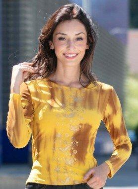 Top, Batik, colore oro