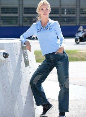 Jeans Worker con pezze cucite