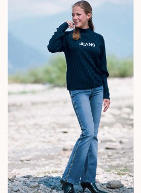 Jeans, cerniera Techno
