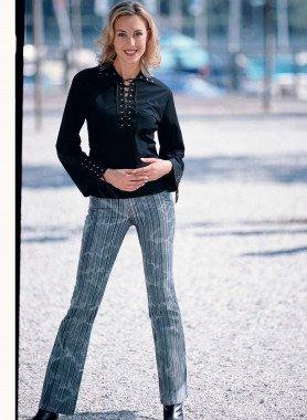 Jeans Bell-Bottom Batik Black-Denim