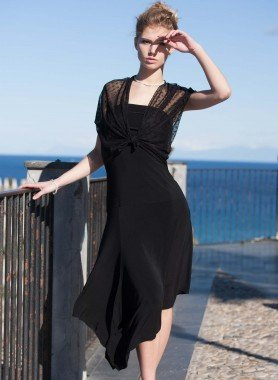 Abito, spalle in tulle