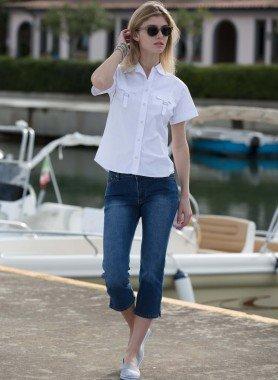 Capri-Jeans, Blue-Denim, 5 tasche
