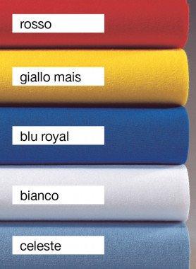 Lenzuola ad angolo per letti da bambini, disp. in 5 colori, 70x140cm