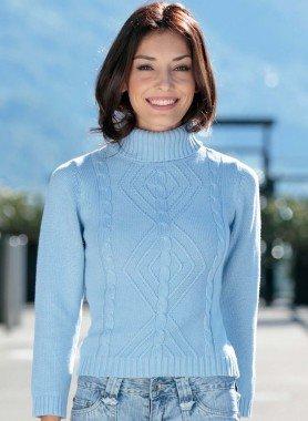 Pullover in maglia, collo alto