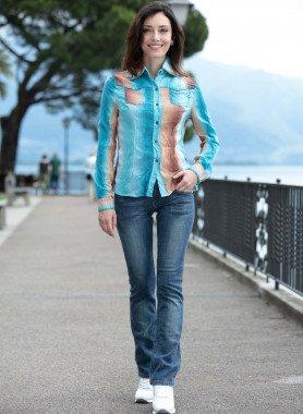 Jeans 5 tasche, taglio stretto