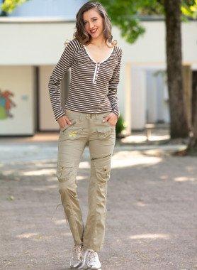 Pantalone-Outdoor, Farfalla