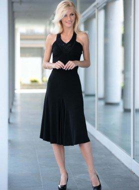 Neckholder-Kleid, lang