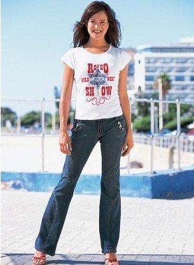 Jeans, Ziernähte Dark-Blue-Demin