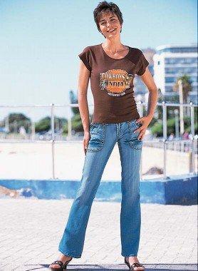 Jeans, Sitzfalten Blue-Denim