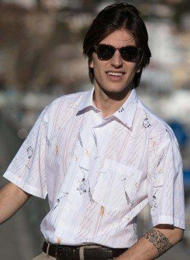 Camicia maniche corte,  Floral Print
