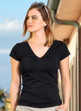 Kurzarm-Shirt, V-Ausschnitt