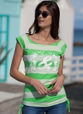 Long-Shirt, larghe righe