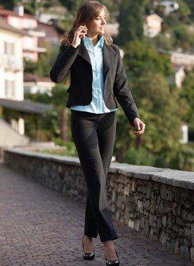 Completo Blazer/Pantalone, nero rigato