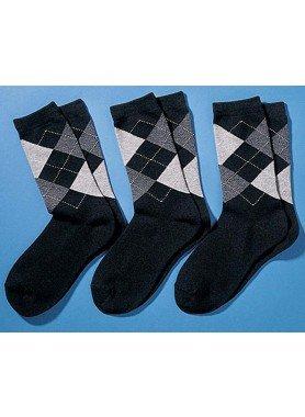 H-Oxford-Socken 3er-S.schw/gr. 3942 174 - 1 - Ronja.ch