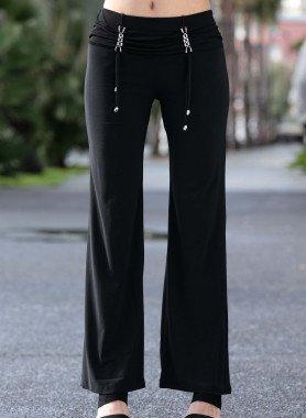 Pantalone elegante,app.cromate con strass