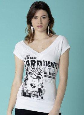 Long-Shirt, stampa sul davanti