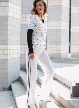 Pantalone-tempo libero,righe doppie laterali