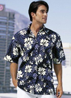 Camicia, fiori/Hawai
