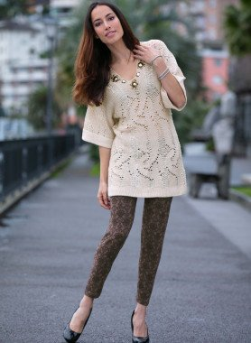 Leggings,stampa ornamentale