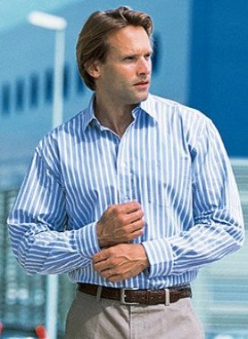 Camicia con maniche lunghe, rigata