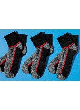 U-Sport-Socken,3xP.sch/gra/rot 3538 010 - 1 - Ronja.ch