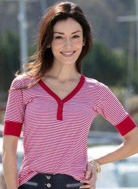 Shirt Serafino, rigato