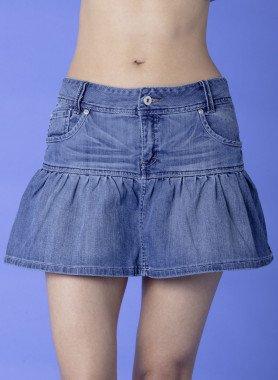Jeans-Mini-Jupe