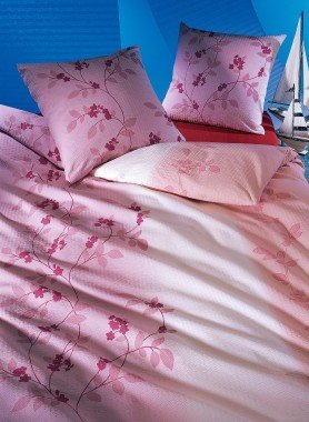 "Biancheria da letto in seersucker ""ROMANA"""