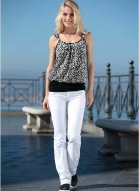 Colors-Jeans, cuciture nero/argento