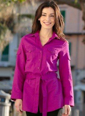 Blusa lunga lino/viscosa