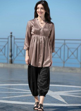 Pantaloni Sarouel in seta