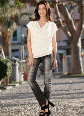 Jeans 5 tasche, quadri