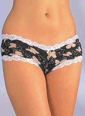 Panty,  farfalle stampate, 3pz
