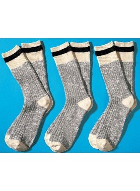 H-Worker-Socken,3er-Set,ecru 3942 009 - 1 - Ronja.ch
