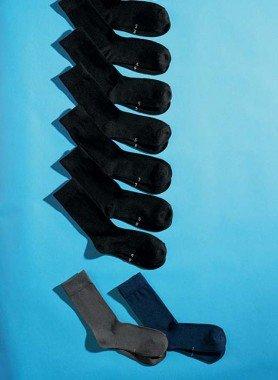 Calze numerate Unisex, 9 paia per colore