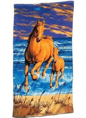 """Telo da spiaggia """"Horses"""""""