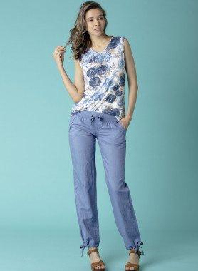 Pantalone con lino