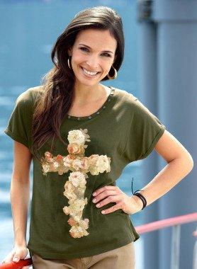 Shirt, rose a forma di croce