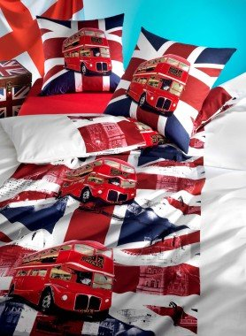 Parure da letto  «LONDON-BUS»